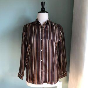 Jones New York Signature NEW classic silk shirt L